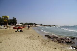 agios georgios alkyoni beach hotel beach