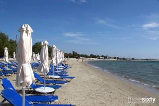 agios georgios alkyoni beach hotel sandy beach