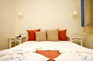 family room alkyoni beach hotel bedroom