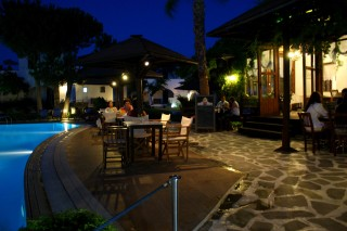 restaurant alkyoni beach hotel night