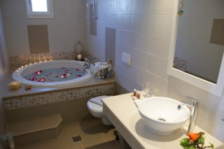 standard triple room alkyoni beach bathroom