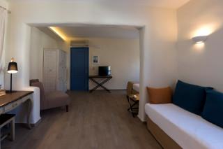 suite alkyoni beach hotel bedroom
