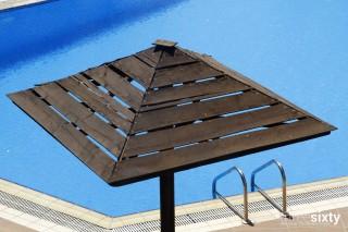 swimming pool alkyoni beach hotel umbrellas