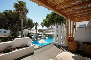 Natura double room with sea view alkyoni beach hotel balcony