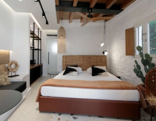 Natura double room with sea view alkyoni beach hotel room